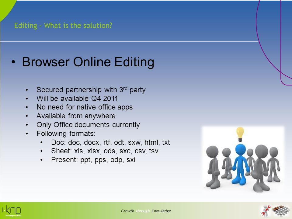Editing – What is the solution.