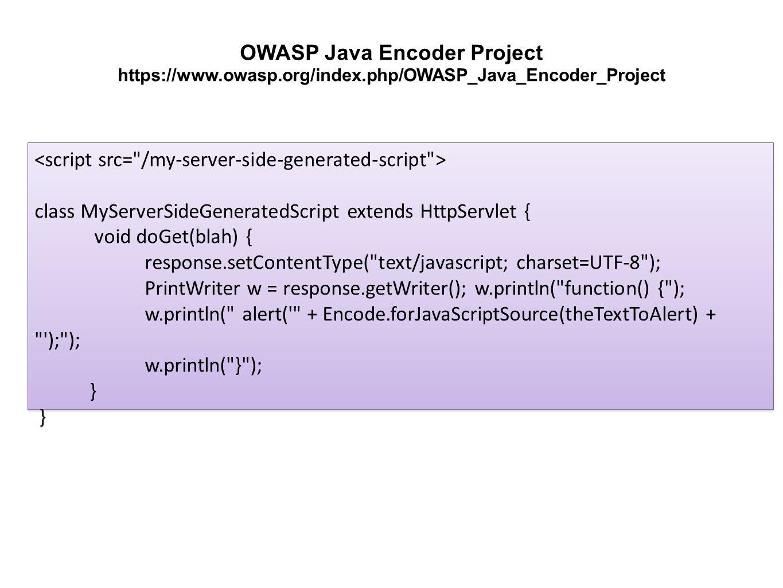 class MyServerSideGeneratedScript extends HttpServlet { void doGet(blah) { response.setContentType(
