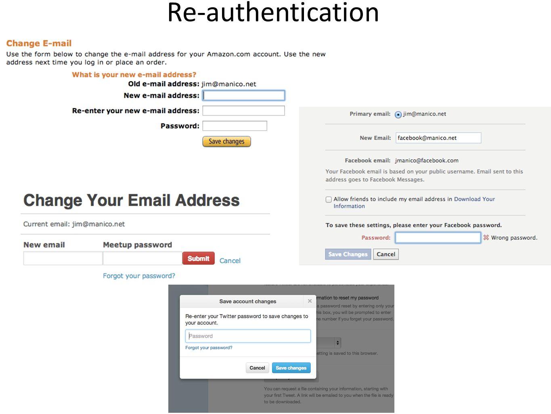 Re-authentication