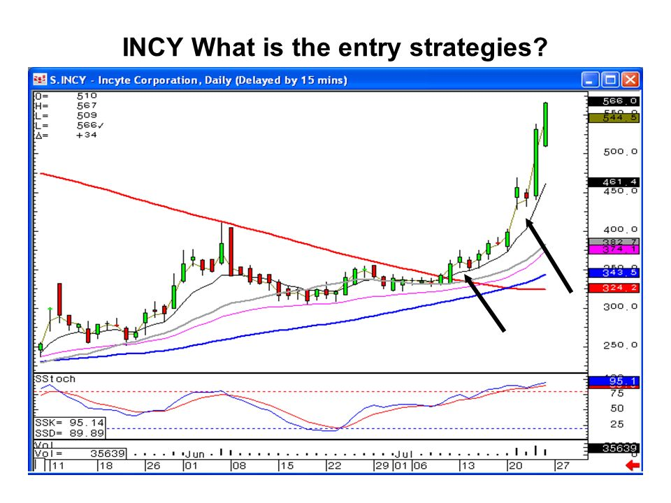 INCY What is the entry strategies?