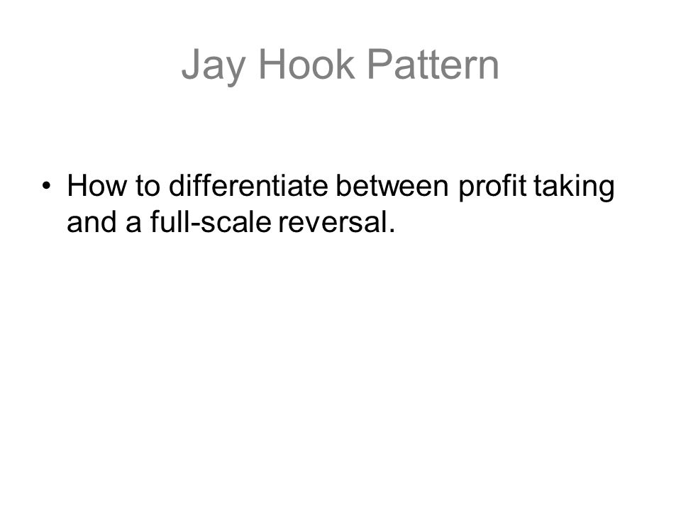 Jay Hook Pattern How to differentiate between profit taking and a full-scale reversal.