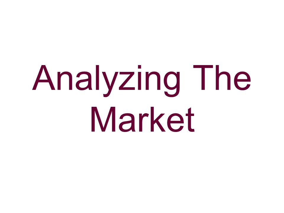 Analyzing The Market
