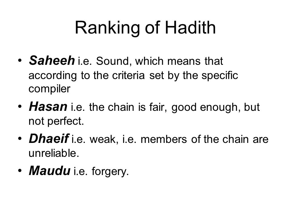 Ranking of Hadith Saheeh i.e. Sound, which means that according to the criteria set by the specific compiler Hasan i.e. the chain is fair, good enough