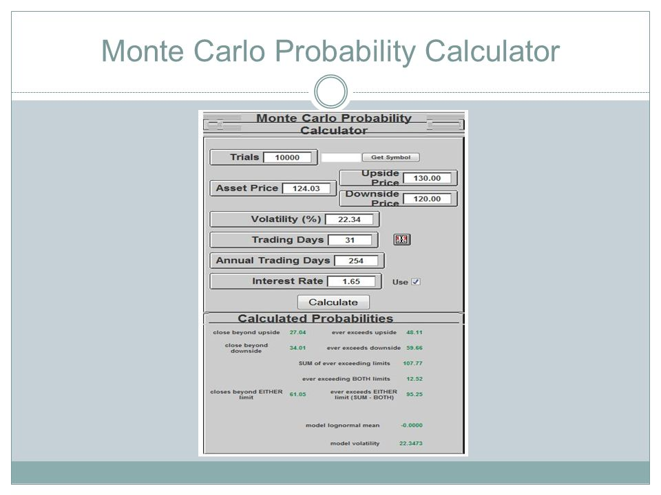Monte Carlo Probability Calculator