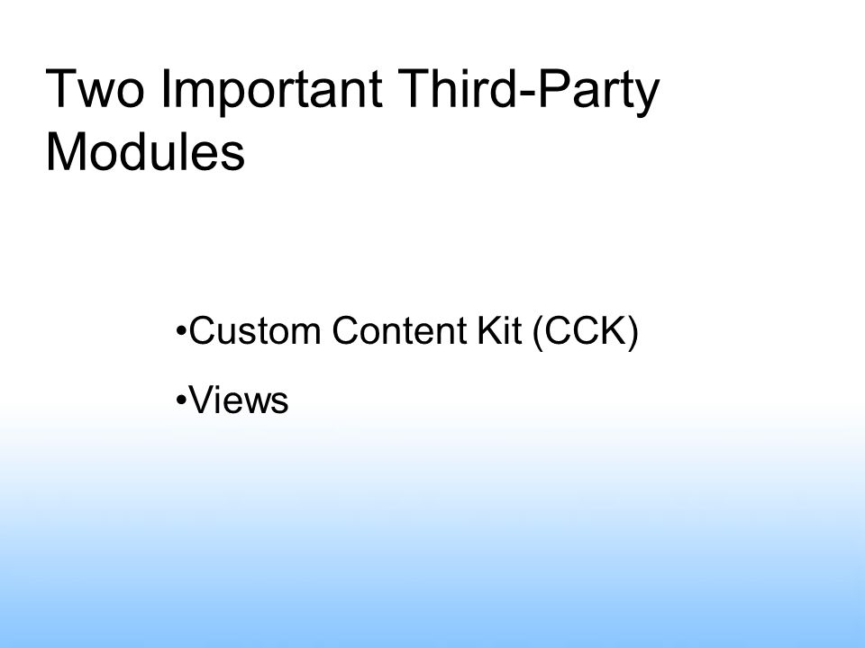 Two Important Third-Party Modules Custom Content Kit (CCK) Views