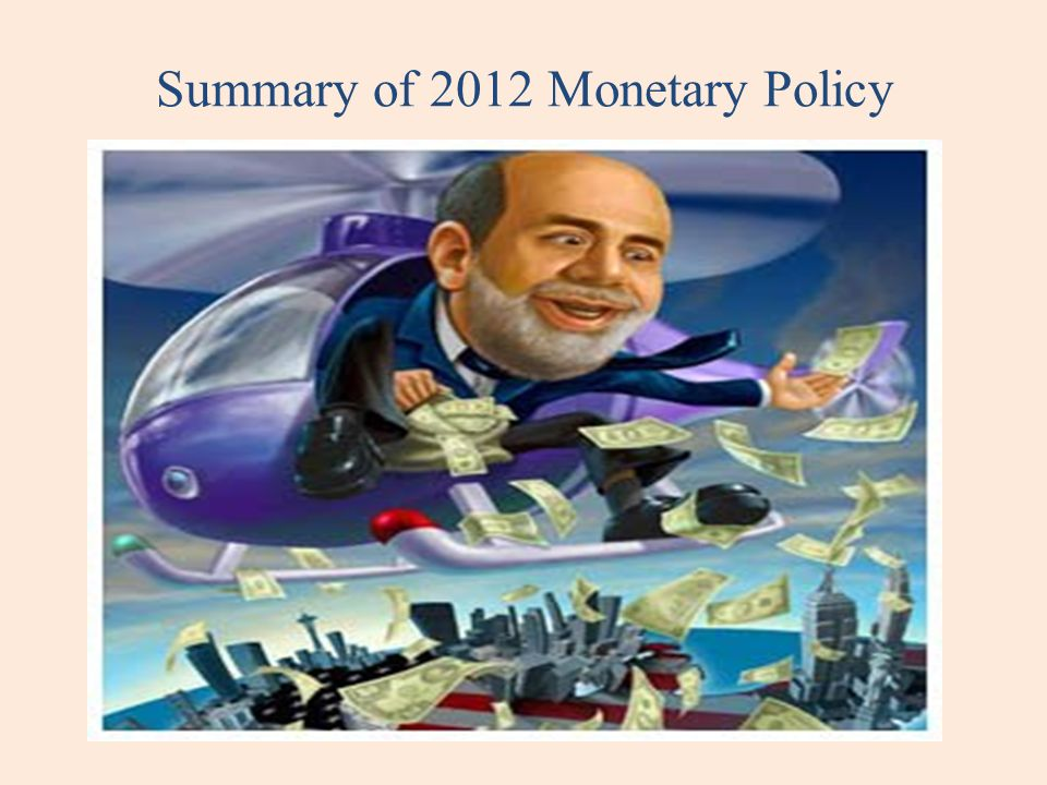 Summary of 2012 Monetary Policy