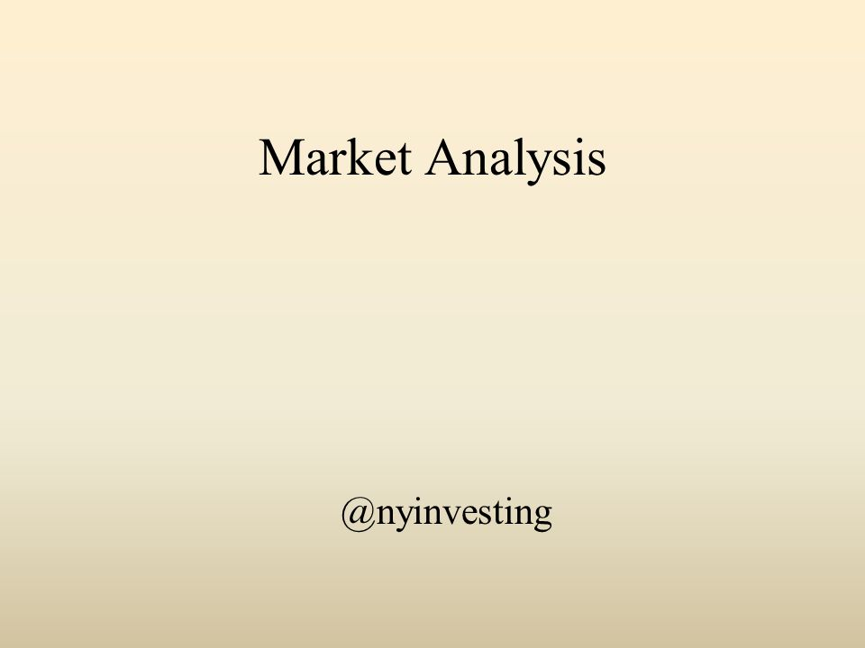 Market Analysis @nyinvesting