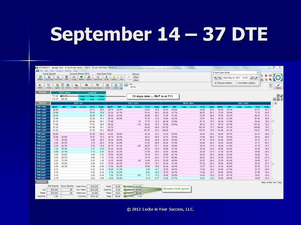 September 14 – 37 DTE © 2012 Locke in Your Success, LLC.