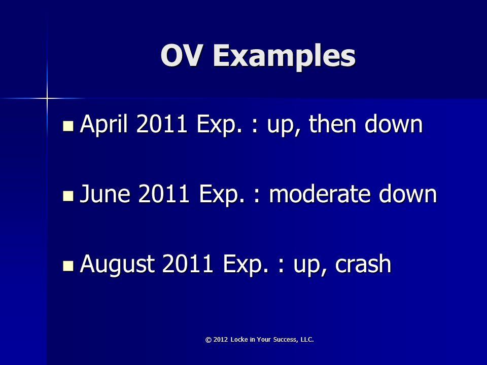 OV Examples April 2011 Exp. : up, then down April 2011 Exp.
