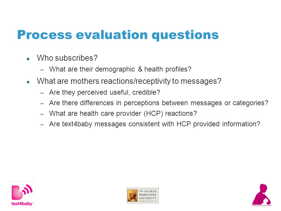 Process evaluation questions Who subscribes. – What are their demographic & health profiles.