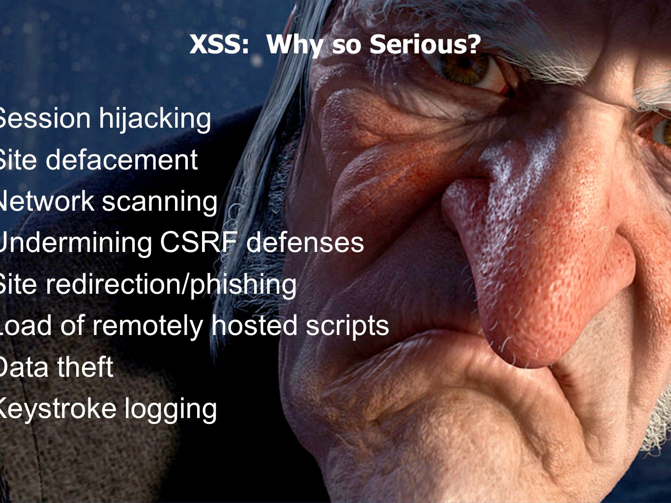February 2012 Top Ten Controls v1 Eoin Keary and Jim Manico Page 5 (2) XSS Defense by Data Type and Context Data TypeContextDefense Numeric, Type safe languageDoesnt MatterCast to Numeric StringHTML BodyHTML Entity Encode StringHTML Attribute, quotedMinimal Attribute Encoding StringHTML Attribute, unquotedMaximum Attribute Encoding StringGET ParameterURL Encoding StringUntrusted URLURL Validation, avoid javascript: URLs, Attribute encoding, safe URL verification StringCSSStrict structural validation, CSS Hex encoding, good design HTMLHTML BodyHTML Validation (JSoup, AntiSamy, HTML Sanitizer) AnyDOMDOM XSS Cheat sheet Untrusted JavaScriptAnySandboxing JSONClient parse timeJSON.parse() or json2.js