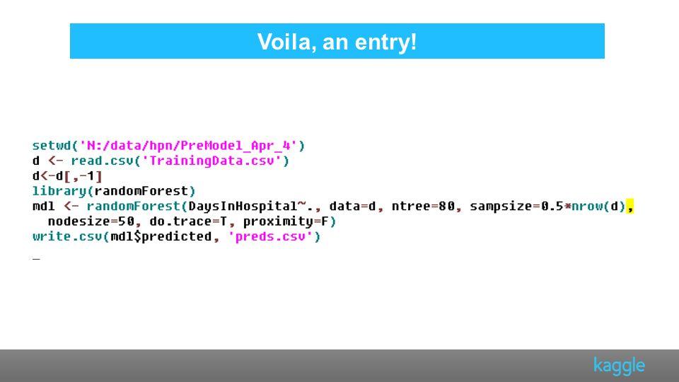 Voila, an entry!