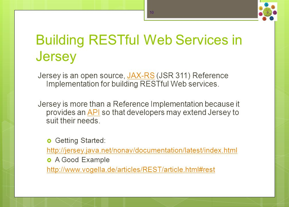 REpresentational State Transfer (REST) Web Service 9