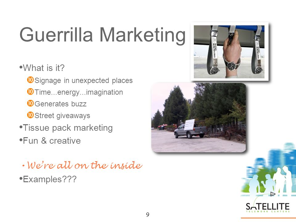 9 Guerrilla Marketing What is it.