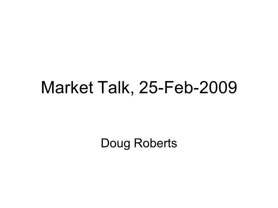 Market Talk, 25-Feb-2009 Doug Roberts