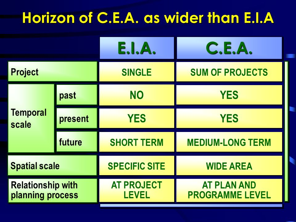 Horizon of C.E.A.