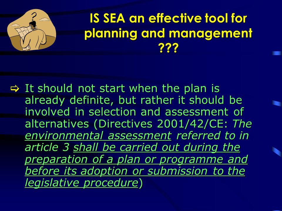 EC Directives Environmental Impact Assessment (EIA) (85/337/EEC) Amendment Directive on EIA (97/11/EC) (2003/35/CE) Habitat Directive (92/43/EEC) amended by 97/62/EC Strategic Environmental Assessment (2001/42/EC) Implementing Italian Regulations EIA (L.349/86) application fields: DPCM 377/88 and 12/27/88 DPR 4/12/96 Dlgs.
