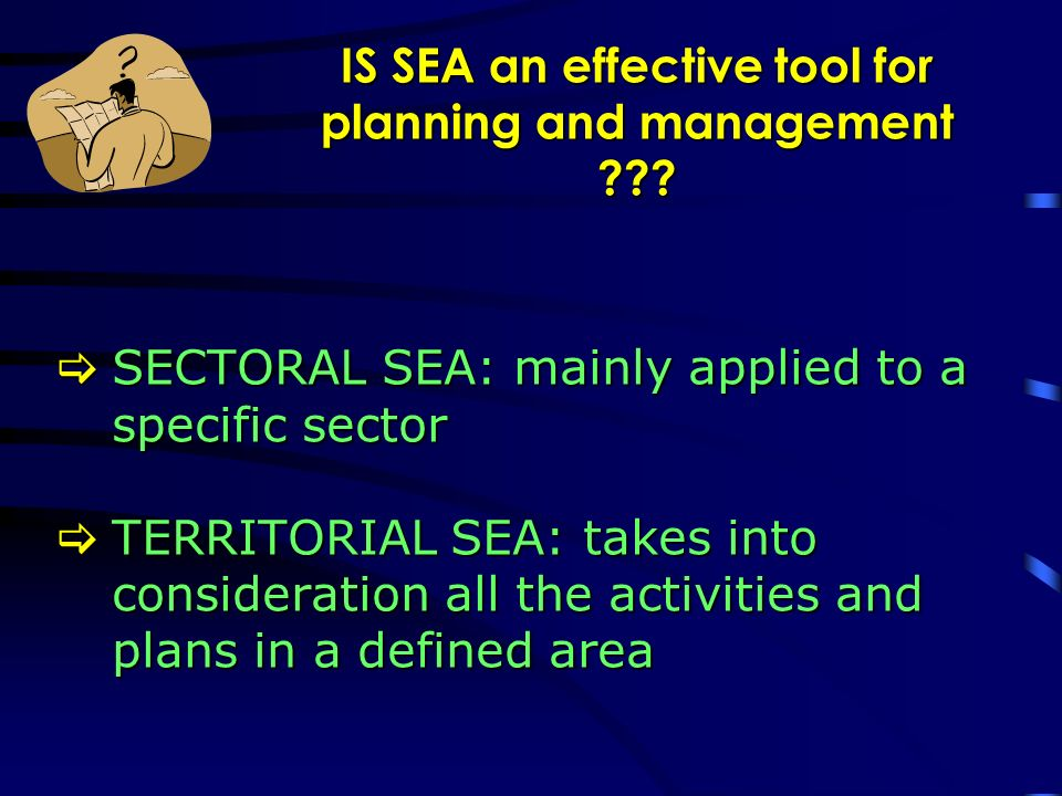 SEA steps stepstepgoalsgoalsprocedureprocedure Involved actors sitesitetimetime Scoping Collection of observations on the plan, identification of common scenario and of the information to be included in the ER and its level of detail Scoping will be carried out through information phase and a collection of contributions by environmental competent agencies, in order that the involvement be as wide as possible i.e: one day workshop The results of the scoping will be published on the website Scoping will be carried out through information phase and a collection of contributions by environmental competent agencies, in order that the involvement be as wide as possible i.e: one day workshop The results of the scoping will be published on the website All the authorities interested in the environmental effects of the plan and its realization i.e.