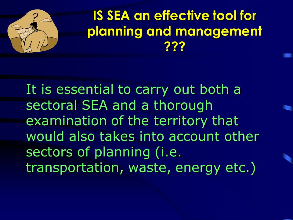Studying the application of SEA to a planning process: the case of the Sardinia Region energy plan Traffic congestion due to the transport of waste and biomass from the 65% of Sardinian territory to the incinerator site.