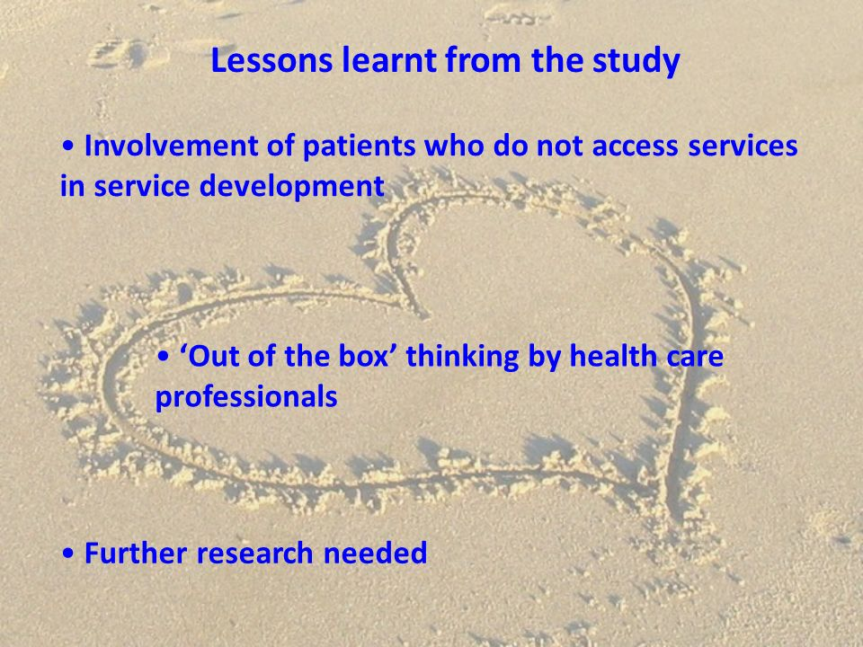 Any questions? Barbara.conway@nhs.net