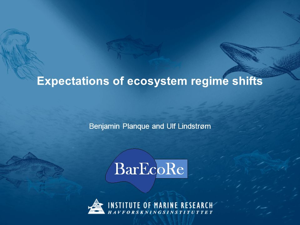 ICES ASC 2012 – Bergen – Planque and Lindstrøm - A:05 Ecosystem regime shifts sudden, high-amplitude, infrequent events, which persist over decadal to multidecadal time scales and are evident on multiple trophic levels (Lees et al., 2006) Regime shifts in the North Pacific (Hare and Mantua, 2000)