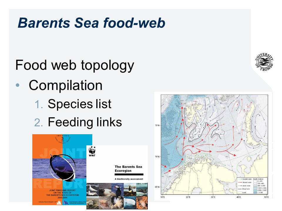 Food web topology Compilation Species list Feeding links Barents Sea food-web