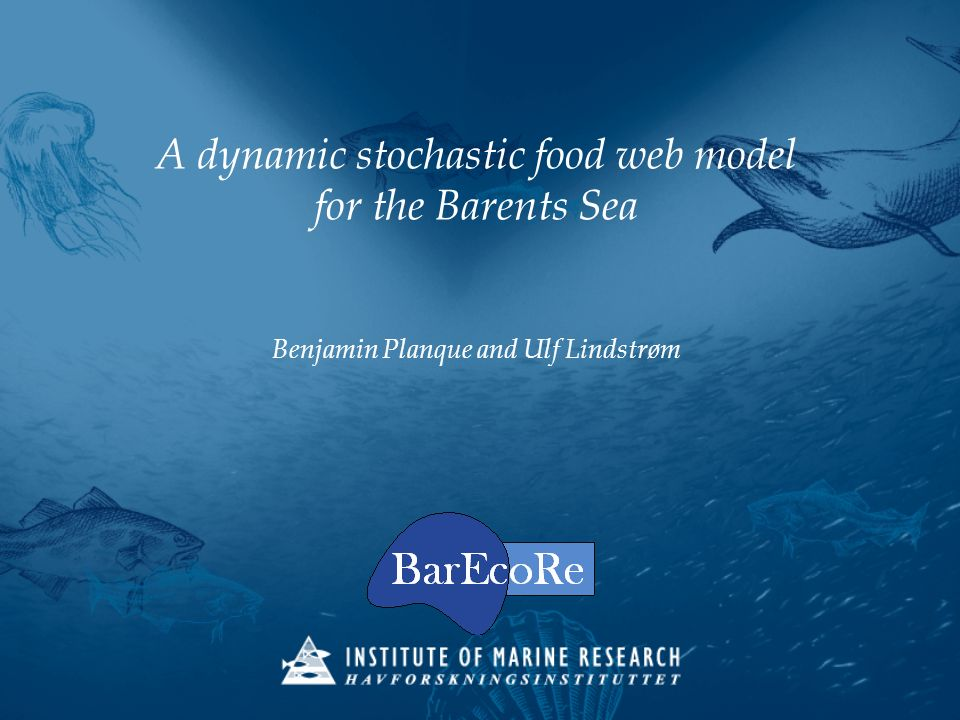 A dynamic stochastic food web model for the Barents Sea Benjamin Planque and Ulf Lindstrøm