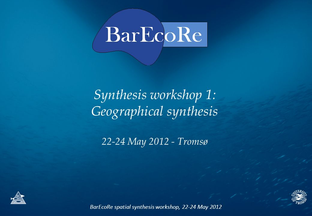 BarEcoRe spatial synthesis workshop, 22-24 May 2012 Synthesis workshop 1: Geographical synthesis 22-24 May 2012 - Tromsø