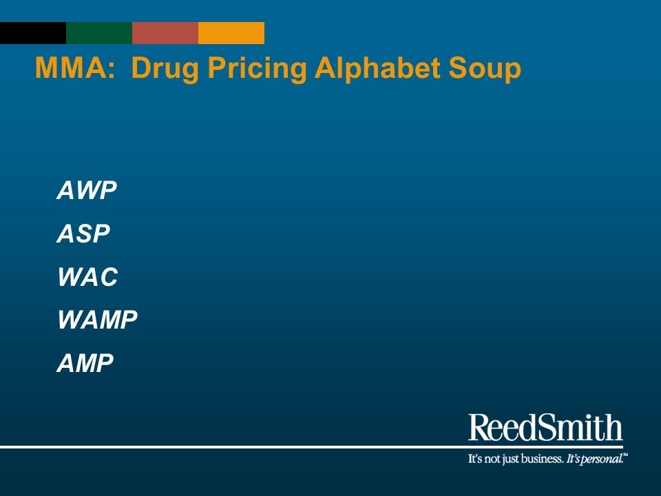 MMA: Drug Pricing Alphabet Soup AWP ASP WAC WAMP AMP