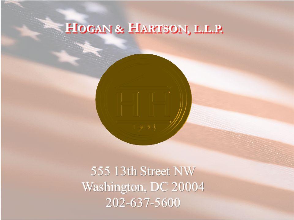 H OGAN & H ARTSON, L.L.P.