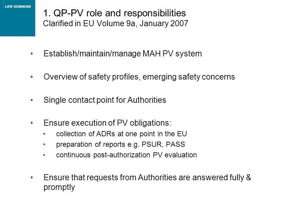 18 The development of RMPs is currently largely driven by regulatory needs in EU Source: pvnet survey Only 1 company has a finalised SOP for RMP development, though 4 more have them in draft Responsibility for monitoring implementation and effectiveness is PV in 4 companies and a mix of functions in others e.g.