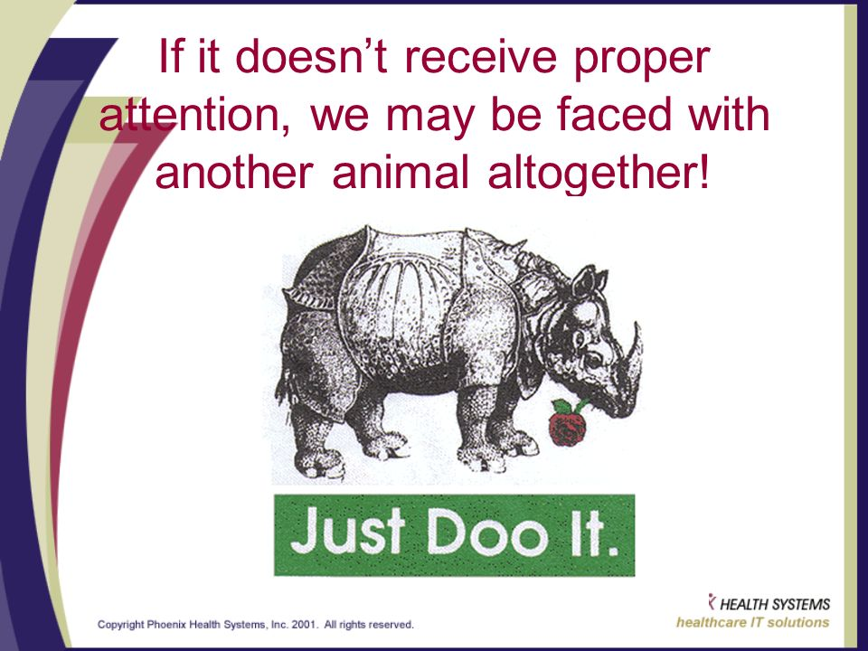 If it doesnt receive proper attention, we may be faced with another animal altogether!