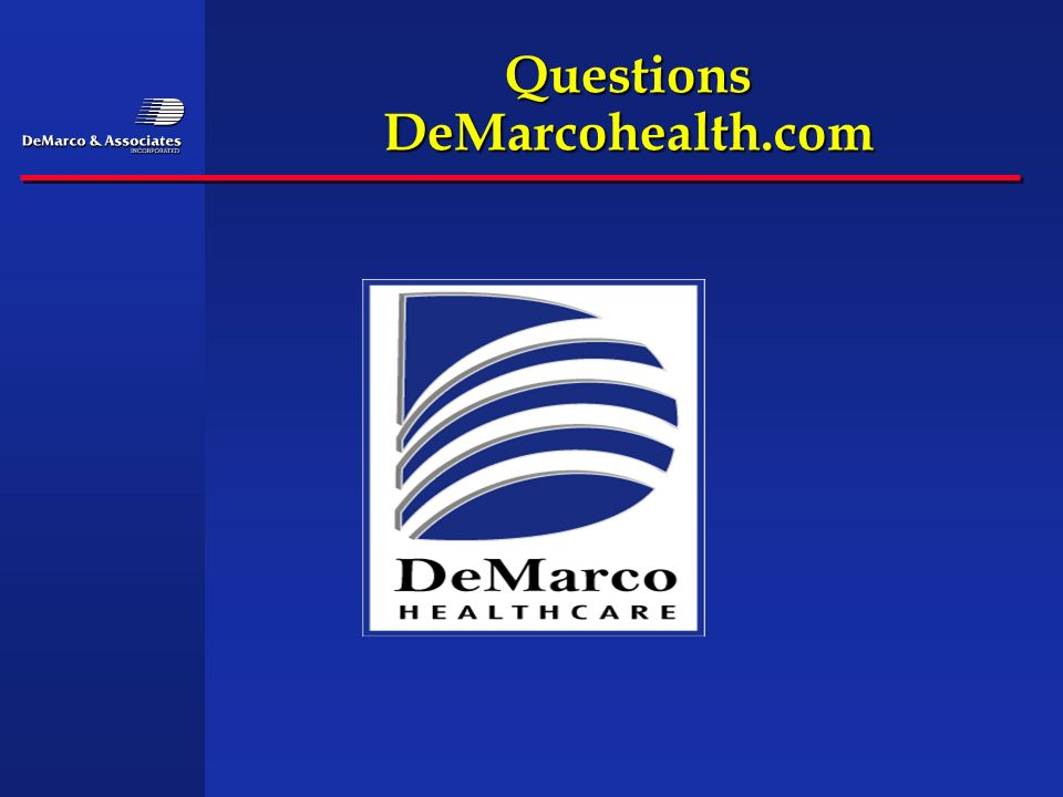 Questions DeMarcohealth.com