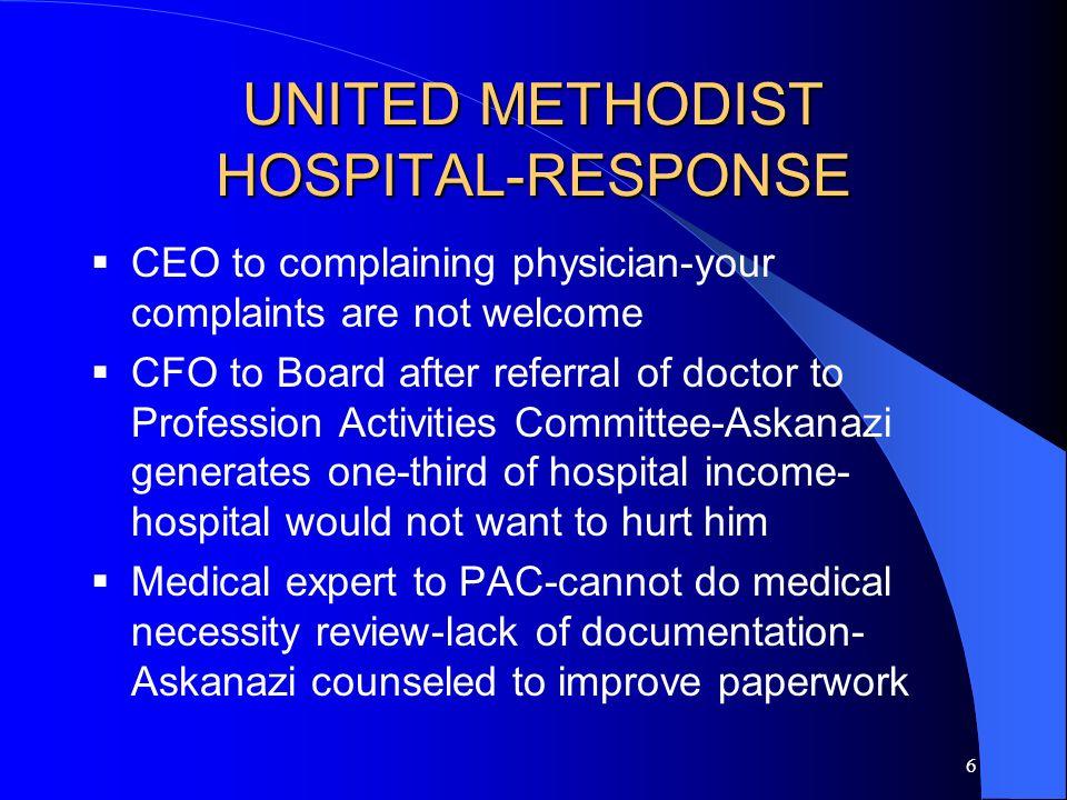 5 UNITED METHODIST HOSPITAL Dr.