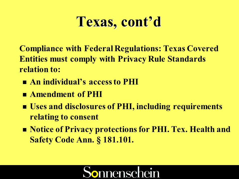 Texas, contd n (B) comes into possession of protected health information; n (C) obtains or stores protected health information under this chapter; or n (D) is an employee, agent, or contractor of a person described by Paragraph (A), (B), or (C) insofar as the employee, agent, or contractor creates, receives, obtains, maintains, uses, or transmits protected health information.