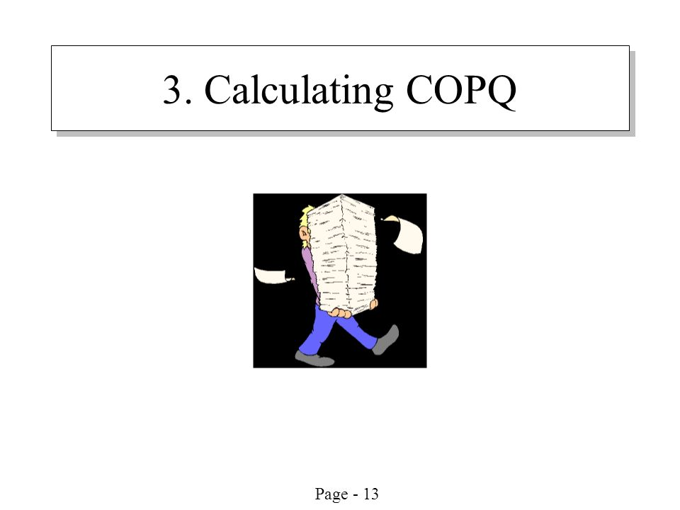 Page - 13 3. Calculating COPQ
