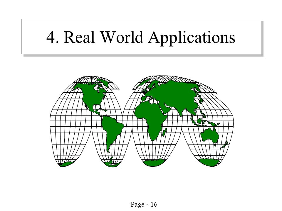 Page - 16 4. Real World Applications