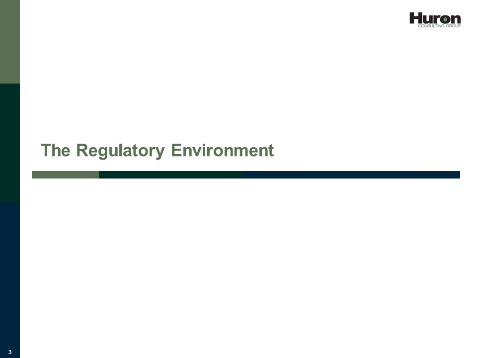 3 The Regulatory Environment