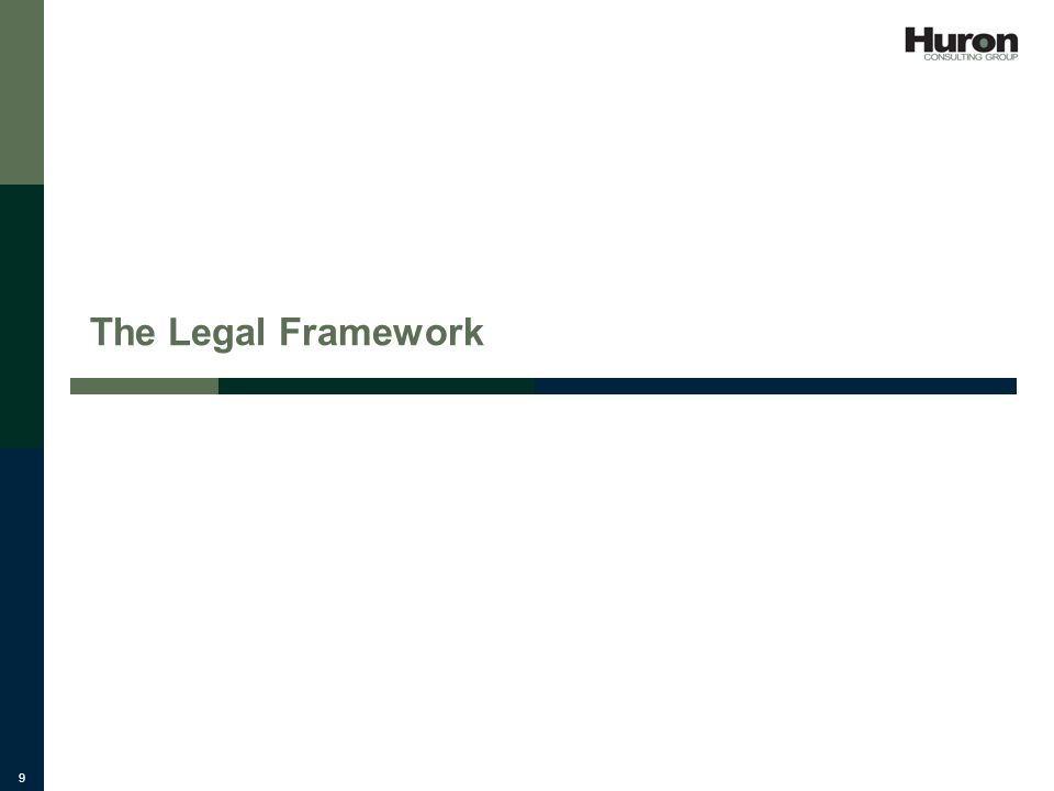 9 The Legal Framework