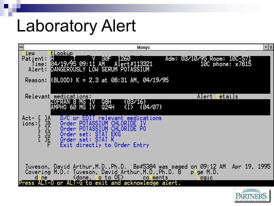 Laboratory Alert