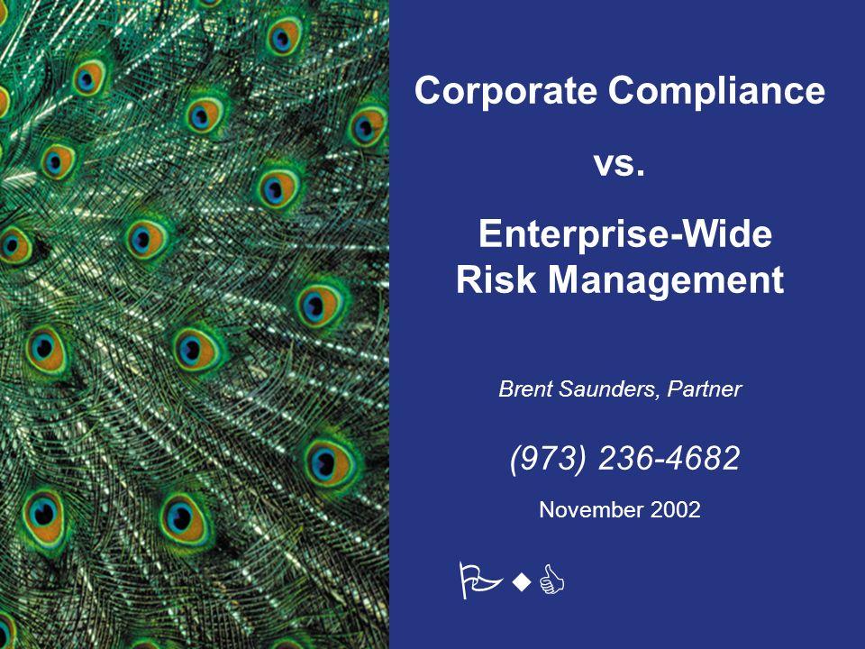 PwC Corporate Compliance vs.