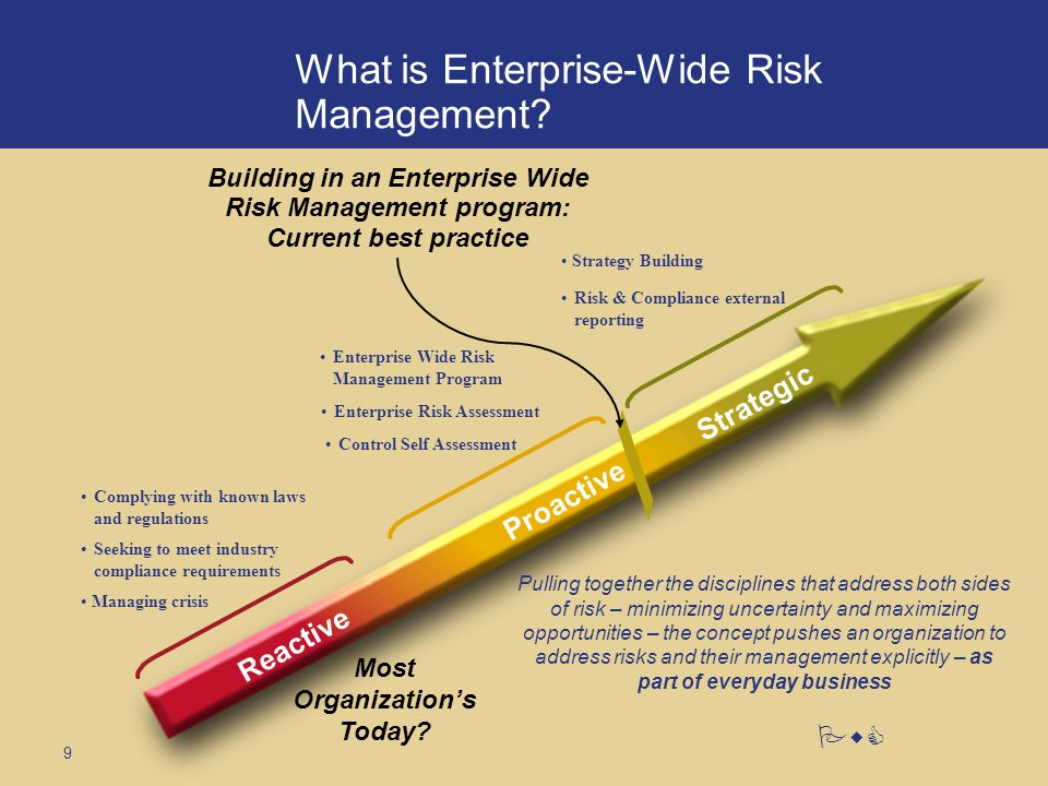 9 PwC What is Enterprise-Wide Risk Management.