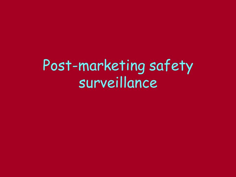 Post-marketing safety surveillance