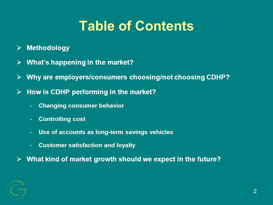 13 Why are employers/consumers choosing/not choosing CDHP?