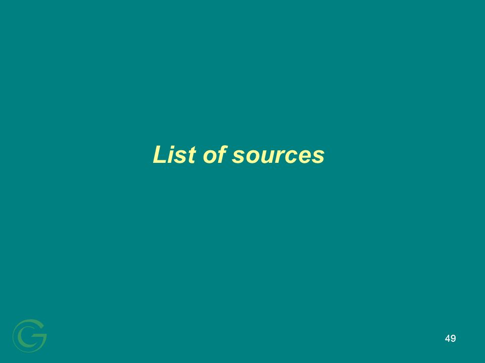 49 List of sources