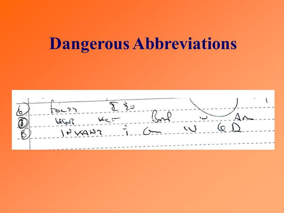 Dangerous Abbreviations