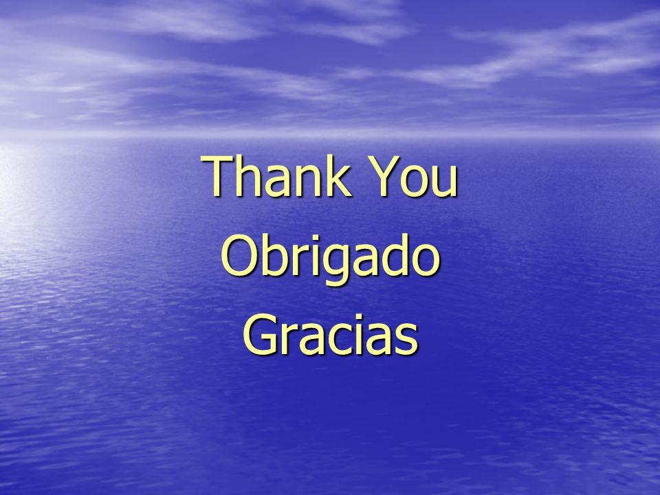 Thank You ObrigadoGracias