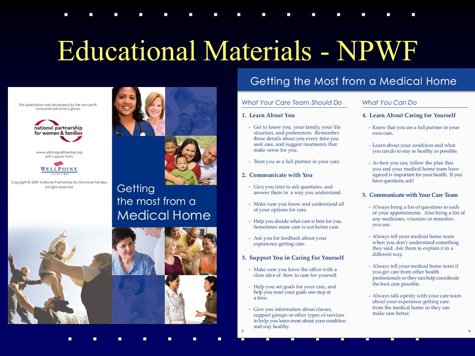 Educational Materials - NPWF