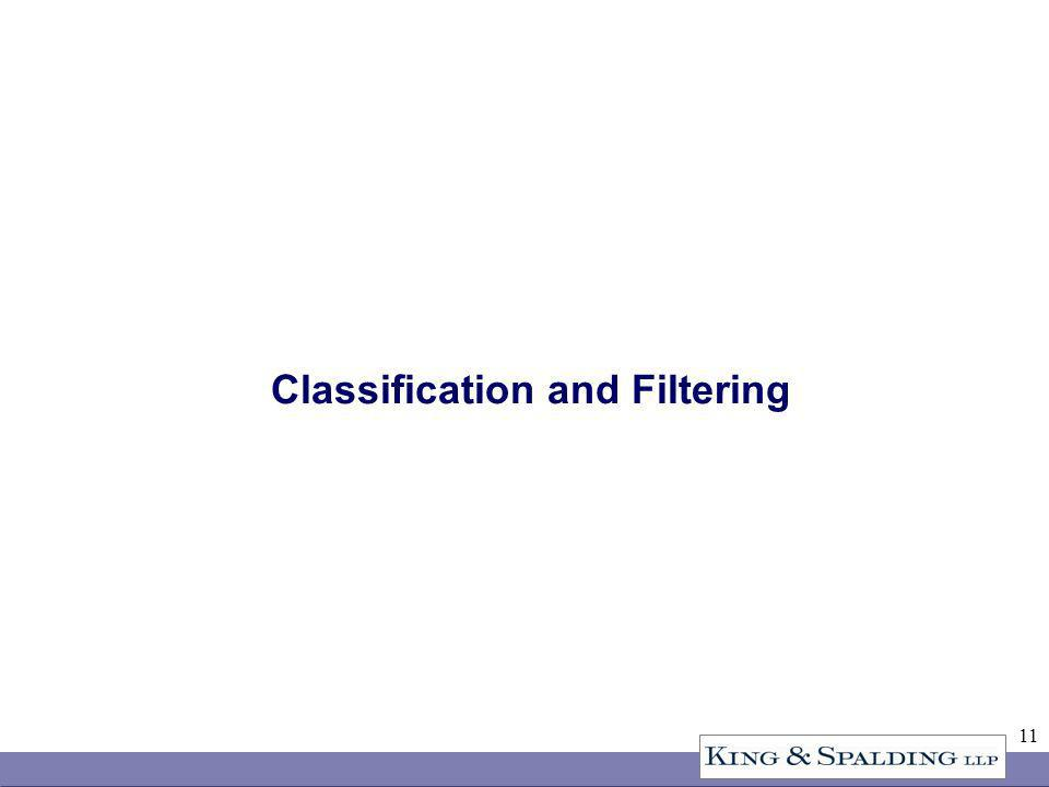 11 Classification and Filtering
