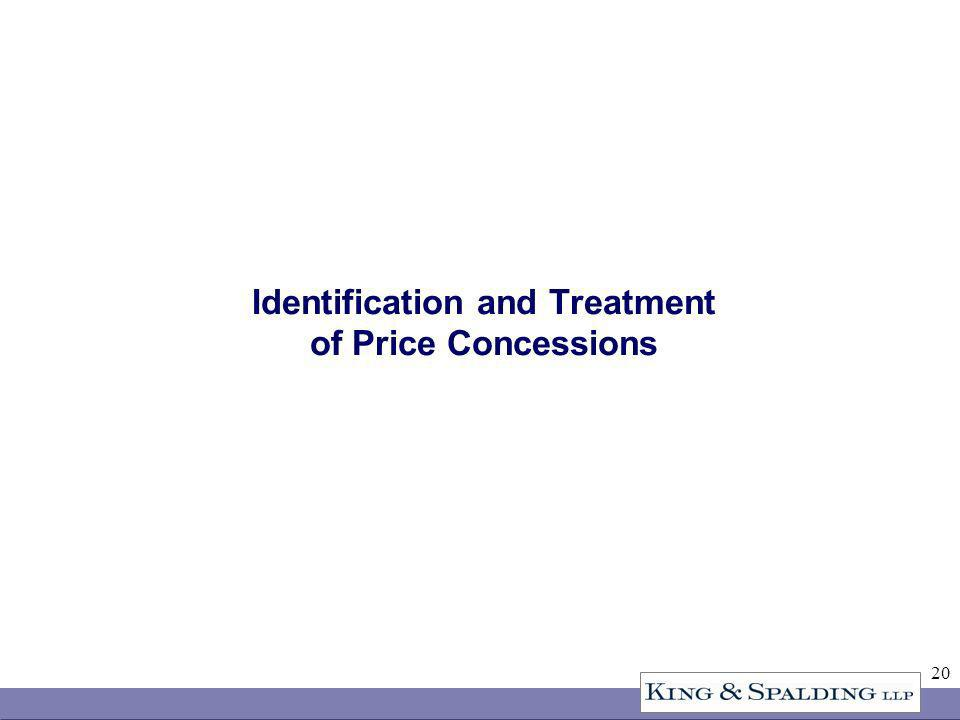 20 Identification and Treatment of Price Concessions
